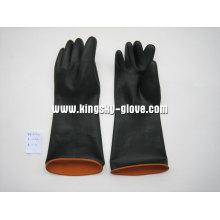 Luva de látex industrial preto resistente-5601