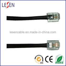 El cable de teléfono redondo Rj11 está disponible