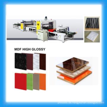 Hochglanz PVC & MDF Laminiermaschine / PUR Hot Melt Kleber Klebstoff Laminiermaschine