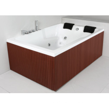 Two Person PS Skirt Acrylic Indoor Whirlpool Massage (JL823)
