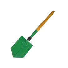 Pala plegable de madera de mango para actividades al aire libre (CL2T-SL303)