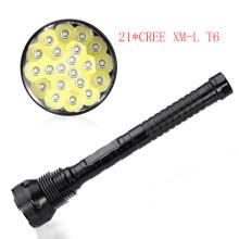 21PCS LED CREE T6 25000lm 1500m 18650 Rechargeable LED Flashlight