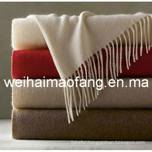 100%Cashmere Blanket Throw with Fringe