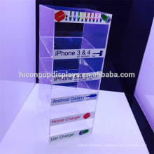 Phone Accessories Retail Store Multi-Layer 3Mm Pure Acrylic Earphone Or Headphone Display Tabletop