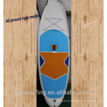 2017 all around blue & white wide stable model PVC inflatble paddle board