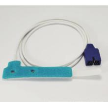 Sensor SpO2 descartável de espuma não adesiva Nellcor, 9 pinos, Nellcor Oxax recém-nascido / adulto disponível
