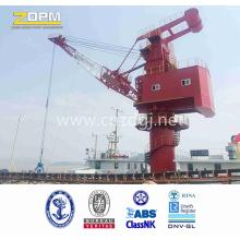 Shore Crane at Seaport to Handle Barge Lifting