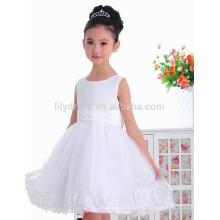 Заказ-line колена Длина Белый цветок девочки платья vestidos FGZ45 детские платья