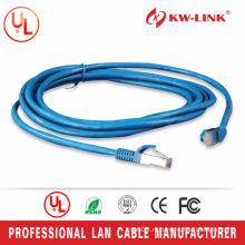 Blue Color 7 * 0.2mm Bare Copper FTP Cat5e Patch Lead 1M