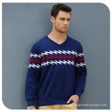 Suéter 100% del jersey del cuello del cachemira de los hombres de la fábrica de China