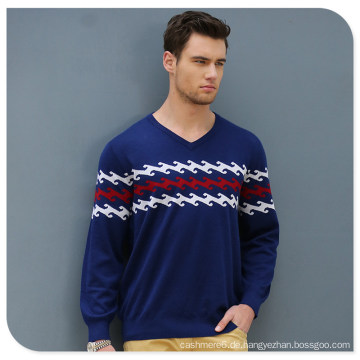 Männer 100% Kaschmir V-Ausschnitt Pullover Pullover China Factory