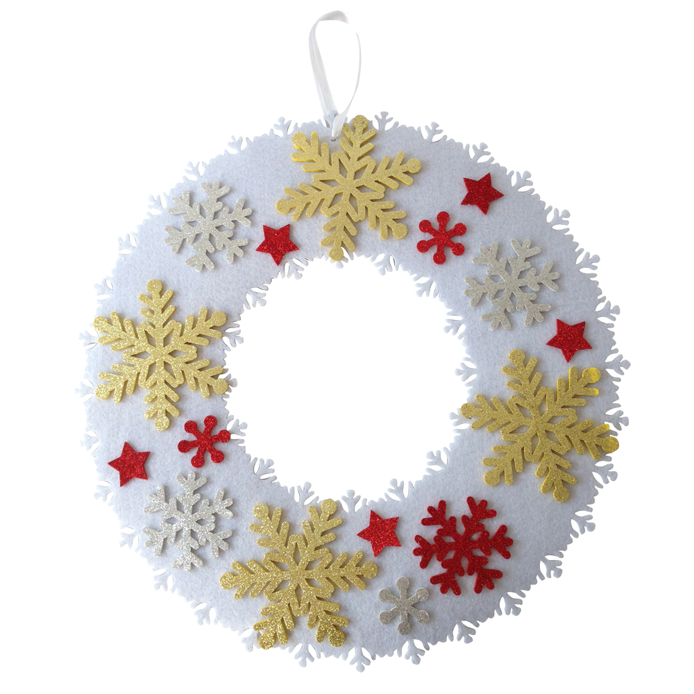 Christmas Snowflake Pattern Wreath