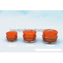 Mushroom Shape Cosmetic Acrylic Cream Jar