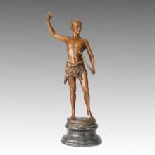 Sport-Statue Antike Bogenschütze Bronze-Skulptur, Kucheler TPE-022