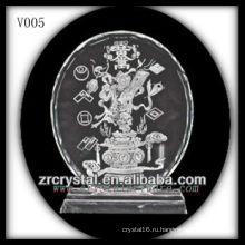 K9 Кристалл диск с пескоструйной обработкой изображения