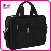 Expandable Nylon Collection Laptop Slim Brief Case for 17 Inch Notebook Computers Multiple Pockets & Compartments