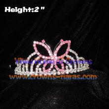 2inch Pink Butterfly Crowns And Tiaras