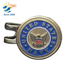 Clip en métal personnalisé de casquette de golf en métal personnalisé de logo en métal