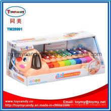 Baby Musical Instrument Cartoon Dog Animal Rainbow Piano Toy