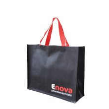 Brand promotion custom printed eco reusable foldable non woven shopping tote bags with logo and handles