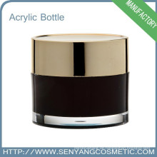 Runder Kosmetik-Creme-Glas Verpackung Großhandel Acryl Kosmetik-Glas für Sahne