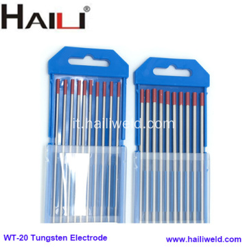 Elettrodo di tungsteno Thoriated 2% Tungsteno Thoriated WT20