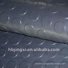 Folha redonda de borracha da resistência de envelhecimento EPDM do botão cinzento