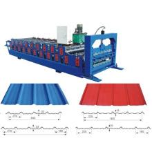 Máquina perfiladora de paneles de techo de doble capa