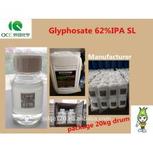 Herbicide Glyphosate 95%TC 480g/l SL 41%SL 62%IPA SL 74.7%WDG 75.7%WDG CAS 1071-83-6