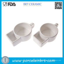 China Dehua Ceramic Soup Mug with Pocket