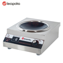 Uso comercial de la cocina de inducción