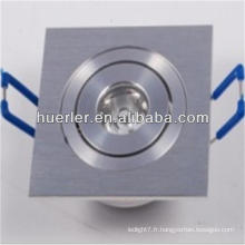 2014 hot sale 1w square recessed flat mount led lights downlight