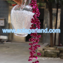 Acrylic Red Grape Beads Deco Rope Garland