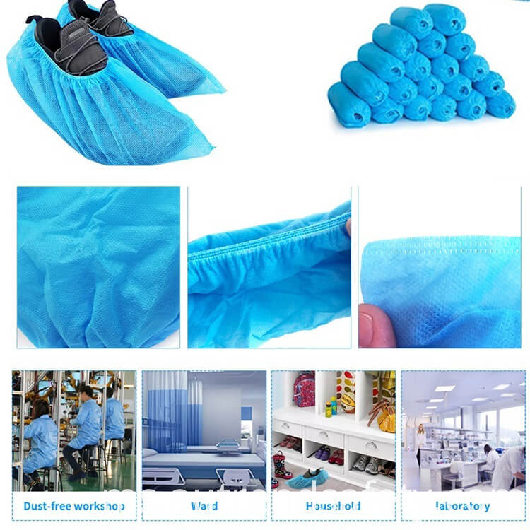 Wholesale Manufacturer Waterproof Foot Shoe Covers Disposable Non Woven Fabric Non Slip Boot Covers 3