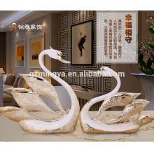 Decorative Elegant Swan Resin Arts Figurine for Home Decoration Polyresin Animal Figurine