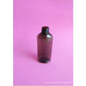 Botella vacía ámbar de 100 ml sin tapa superior