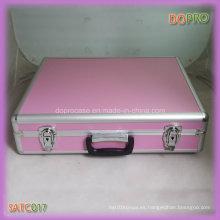 Rosa ABS estilo de la manija de la superficie de bloqueo de aluminio llevar la caja (satc017)