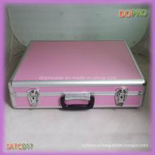 Pink ABS Surface Handle Style Locking Aluminum Carry Case (SATC017)