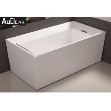Aokeliya modern high-quality acrylic freestanding bathtub for sale white tub with pillow used for home