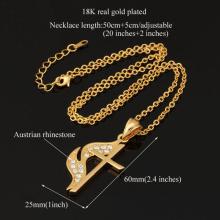 Nouveau feu Unique Croix pendentifs 2 couleurs 18K or/platine plaqué Choker Croix Colliers & Pendentifs