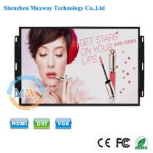 Monitor incorporado de 17 polegadas quadro aberto brilho de 700 cd / m2 com botões do menu