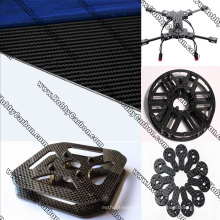 Feuilles adaptées aux besoins du client de fibre de verre de commande numérique par ordinateur coupant pour des cadres de drones