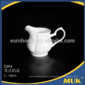 Eurohome royal hotel estilo ronda diseño leche blanco jarra de leche de cerámica