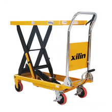 Xilin small lift table 300kg 660lbs portable hydraulic lift table