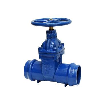 Utilizado para la válvula de compuerta resistente con zócalo de tubería de PVC