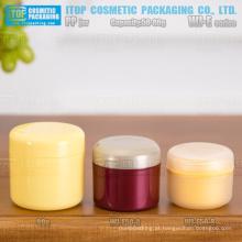 WJ-E Series 50g e 80g devenda camadas dobro agradável proporção boa qualidade redonda frascos de cosméticos pp