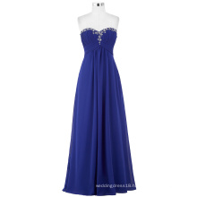 Starzz Full-Length Strapless Chiffon Blue Long Evening Dress ST000002-2