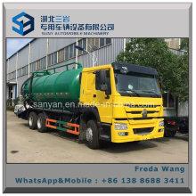 Sino HOWO Rhd LHD 6X4 16000 Litres Vacuum Sewage Suction Tanker Truck