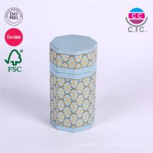новый стиль красивый синий круглая коробка бумаги цилиндр для карандаша