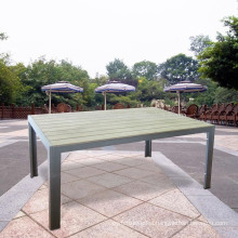 Metal outdoor rectangular garden dining table